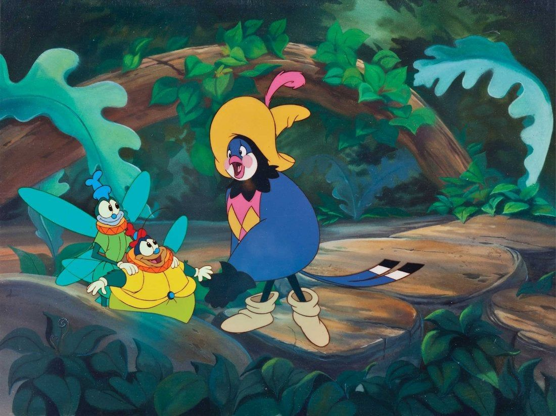 Animation art from Don Bluth's THUMBELINA (1994 ...