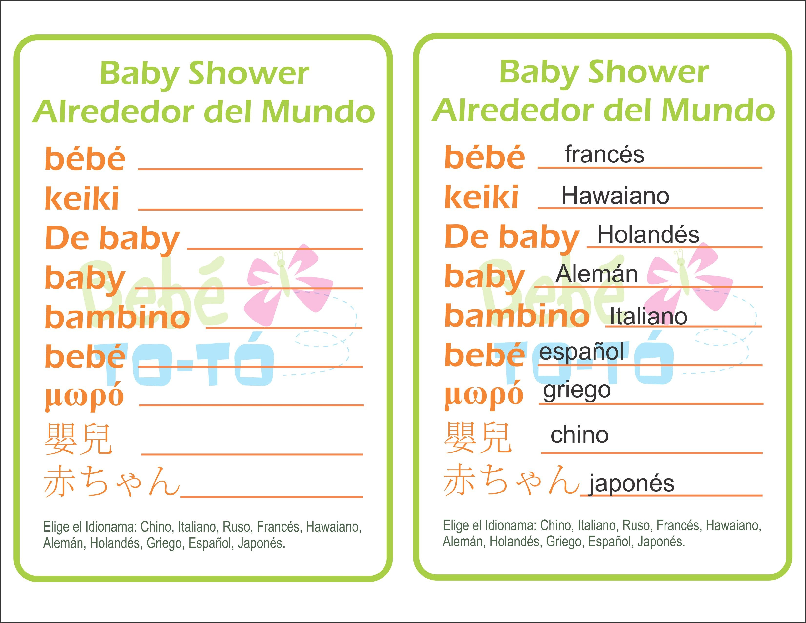 Instant Download Blue Stork Spanish Baby Shower by Studio20Designs