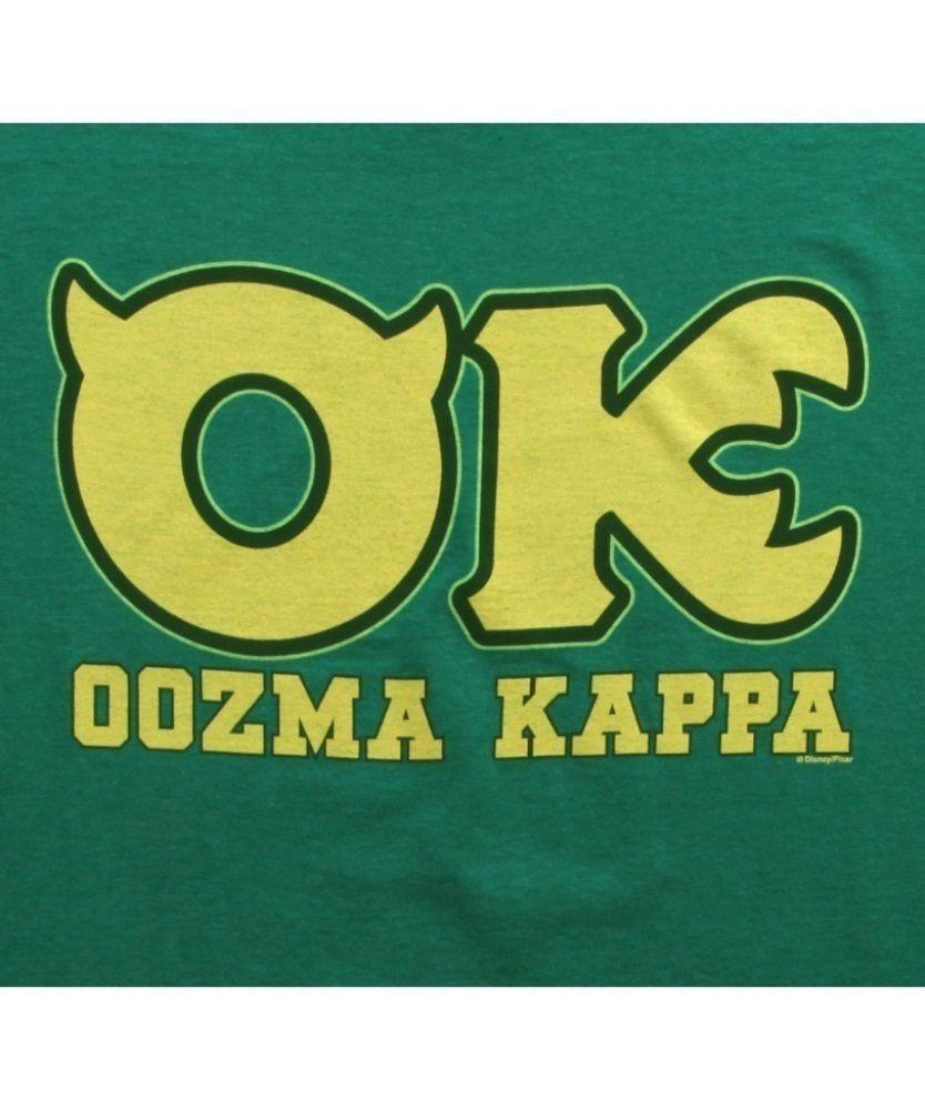 Monsters University Oozma Kappa Fraternity T Shirt Monsters Inc Shirt Monster University Monsters Inc