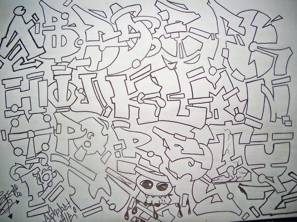 DrawGraffitiAlphabetLettersDifferentStylesJpg
