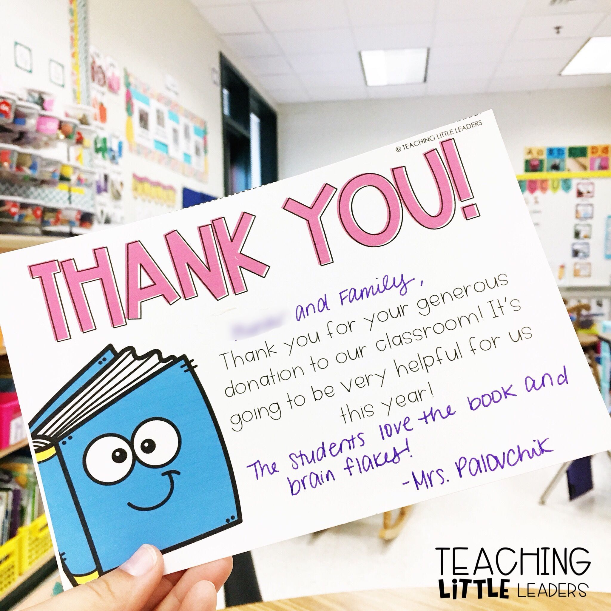 Say Thank You To Your Students And Their Families For Classroom Donations With These Editable Thank You Notes To Parents Thank You To Parents Thank You Notes