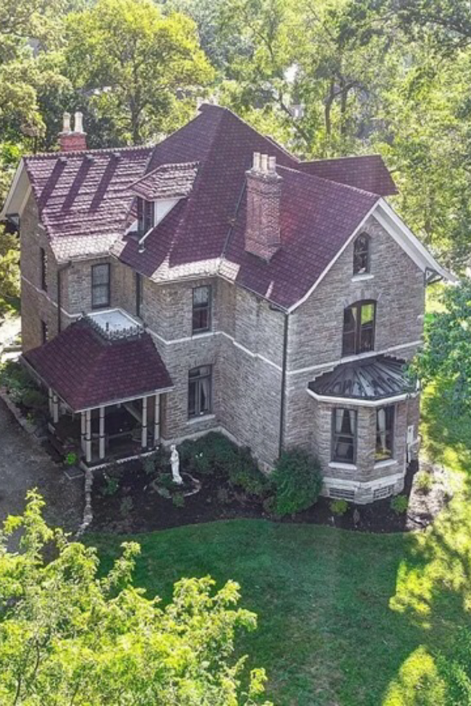 1872 Stone House For Sale In North Bend Ohio Old Stone Houses Stone House Stone Exterior Houses