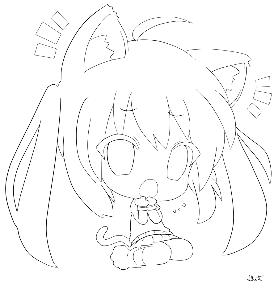 Chibi Coloring Pages Cute Anime Chibi Coloring Pages Cute