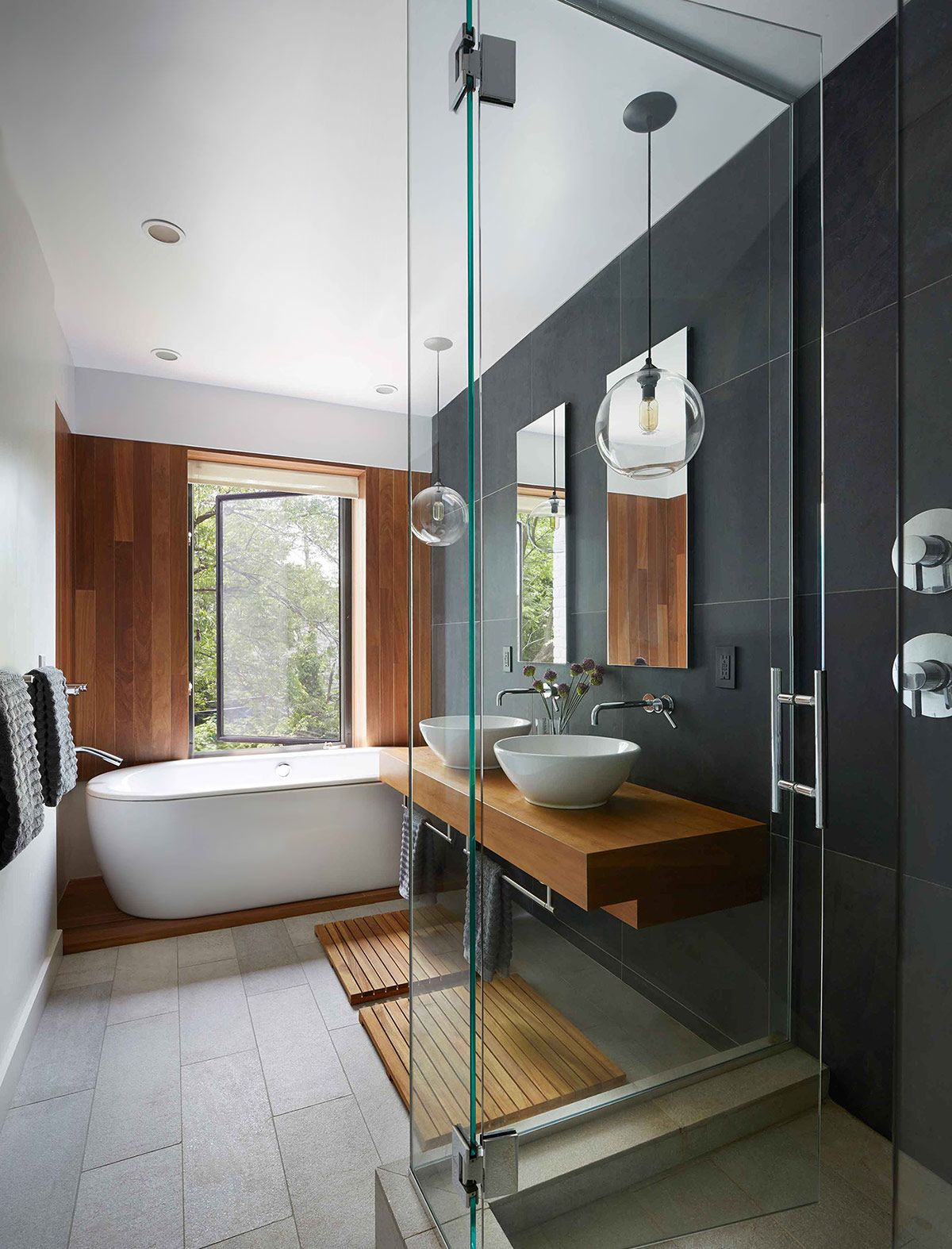 Dark color timeless bathroom design architecture Contemporary bathroom colors