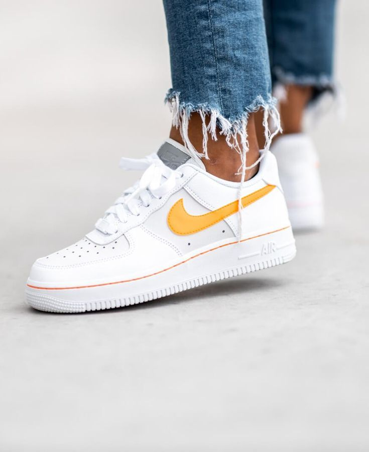 Nike Women's Air Force 1 Lo White/Total Orange sneakers. - #Air ...