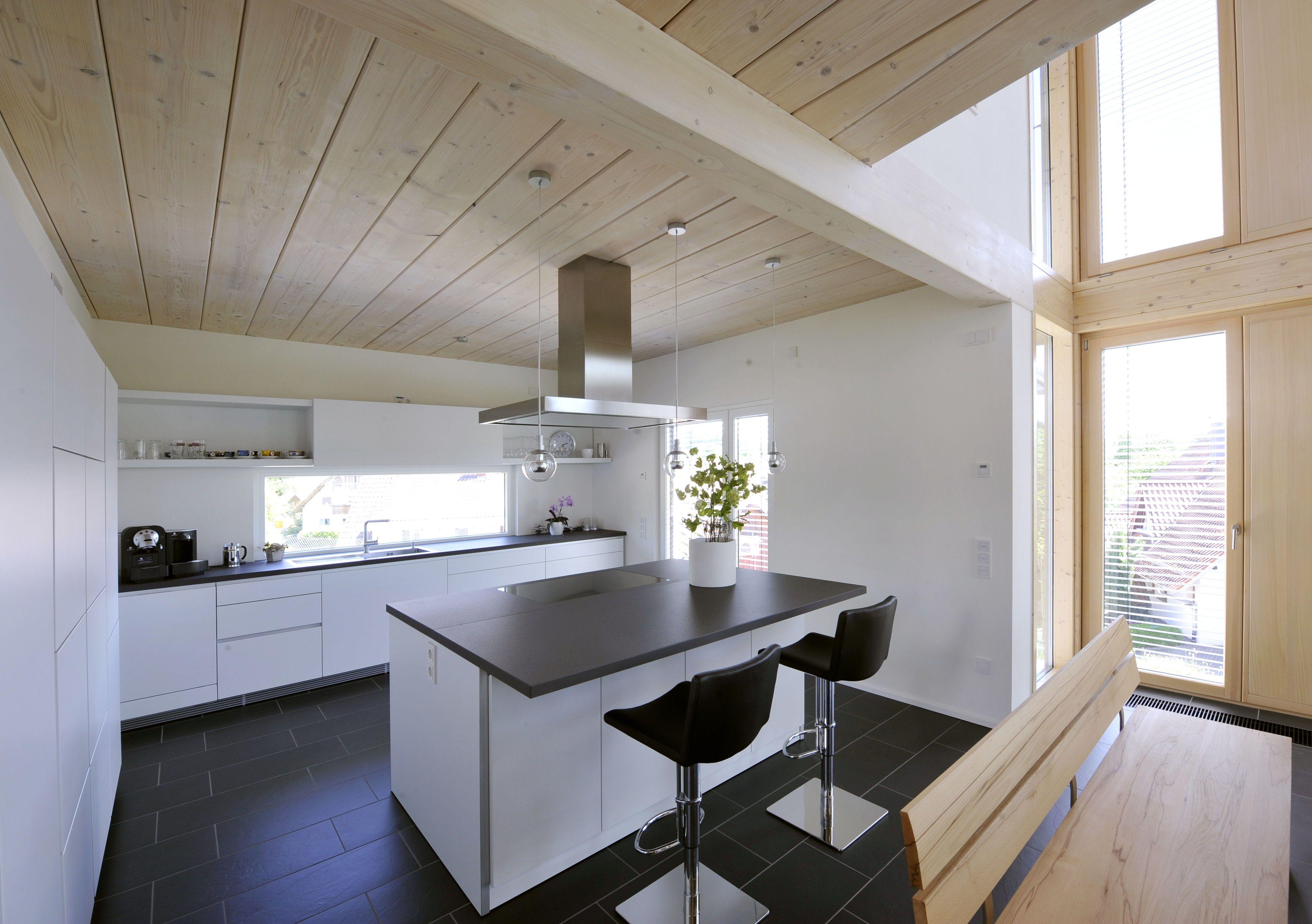 Einfamilienhaus innen modern, rustikal einrichten mit