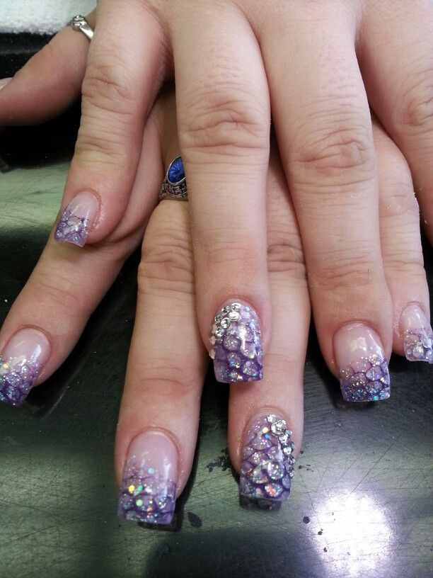 Purple snake nails by Kelly