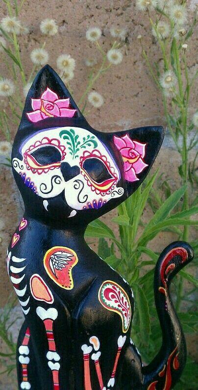 Dia de Muertos gato / Day of the Dead kitty