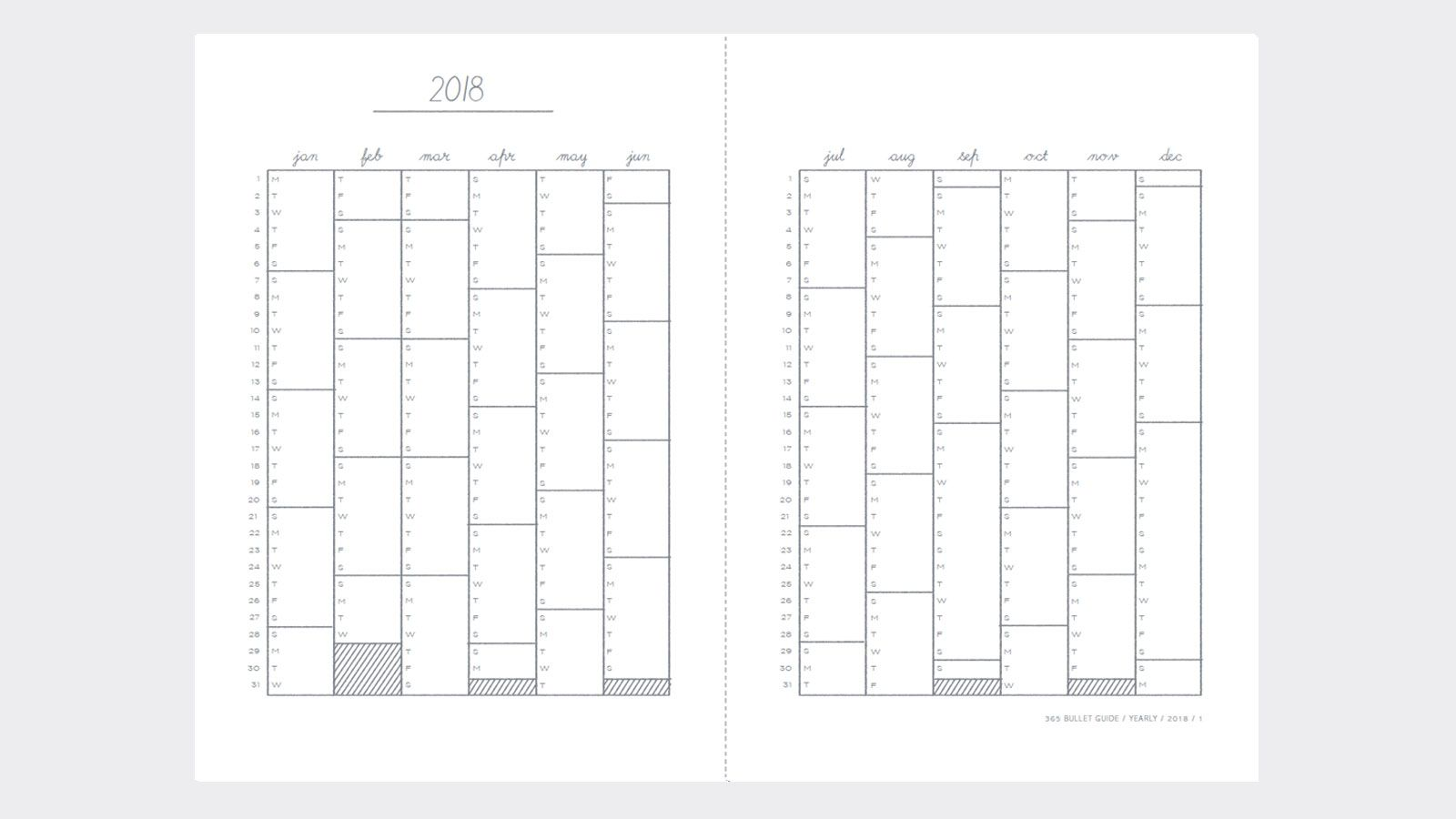 Free Bullet Journal Template Yearly 2018 2019 Bullet Journal Ideas