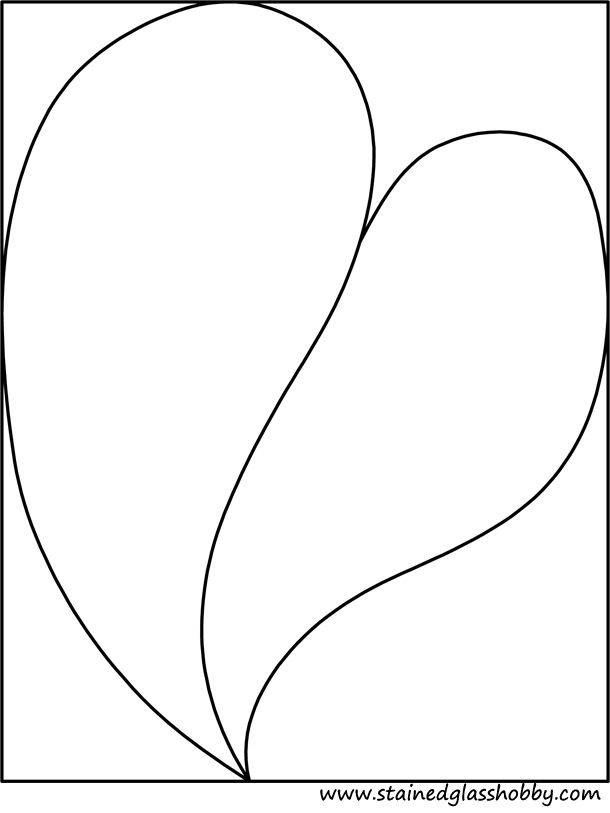 Stained Glass Hearts Patterns Free Stained Glass Pattern