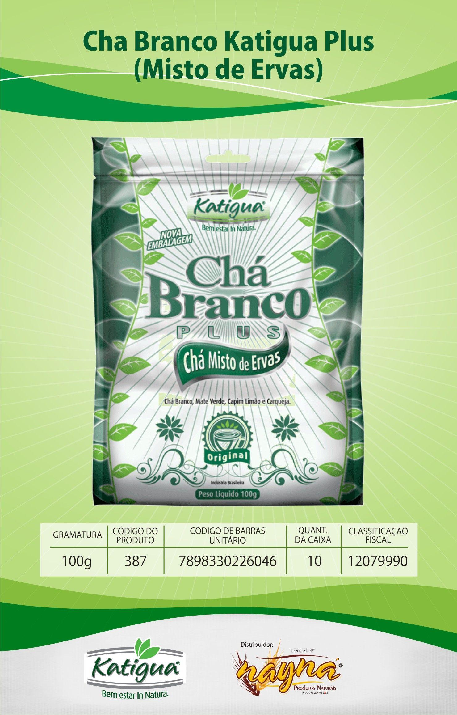 Chá Branco Katiguá Plus Misto de Ervas 120gr