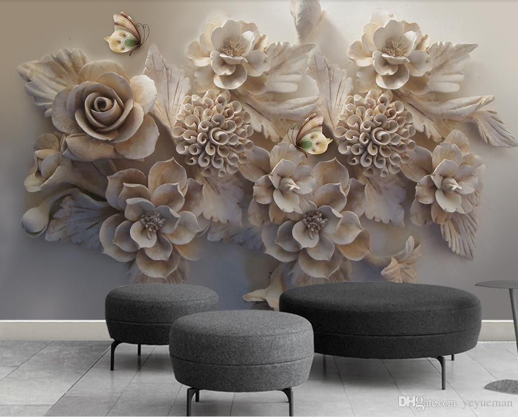 Custom Wallpaper For Bedroom Walls Living Room Backdrop Tv Background Wallpaper Jewelry Flowers Wall Papers Home Decor 3d Hd Wide Wallpaper Hd Widescreen Wallpa Wallpaper Walls Bedroom Mural Wallpaper 3d Wallpaper