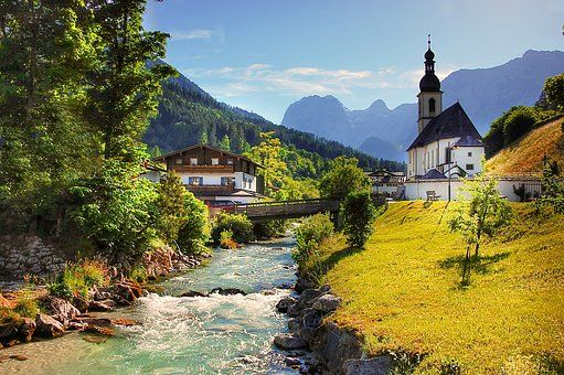 Ramsau, Church, Christen