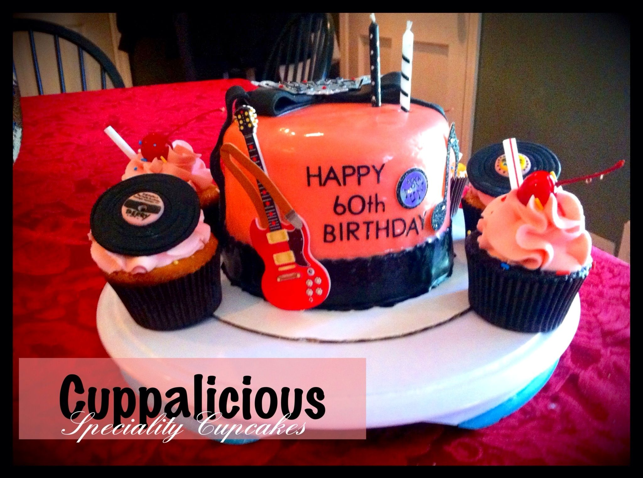 1950s Themed Cake And Specialty Cupcakes By Cuppalicious Atlanta
