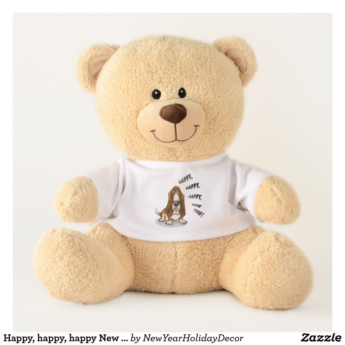 Happy Happy Happy New Year Newyear Newyear2018 2018 Happynewyear Holiday Dog Yearofthedog Ch Personalised Teddy Bears Christmas Teddy Bear Teddy Bear [ 1106 x 1106 Pixel ]