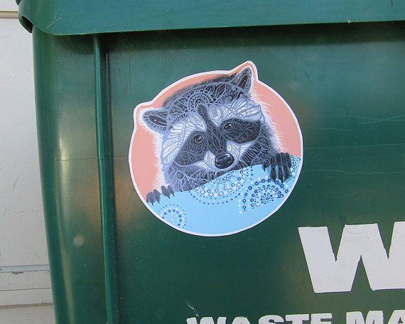Raccoon Vinyl Sticker Waterproof Decal
