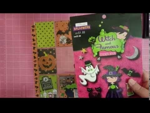 Halloween Pocket Letter Tutorial/ Halloween Craft Series #4 - how to make halloween decorations youtube