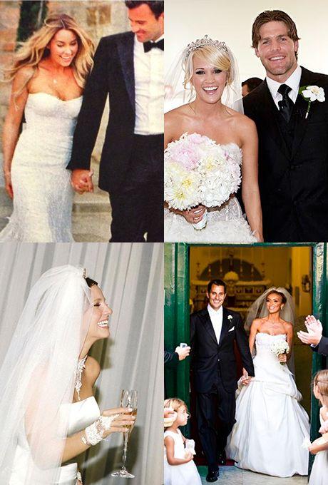 Monique Lhuillier Celebrity Wedding Dresses   Pinterest   Wedding ...