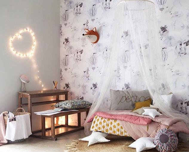 Dormitorios rom nticos para ni as habitaciones for Dormitorios para 4 ninas