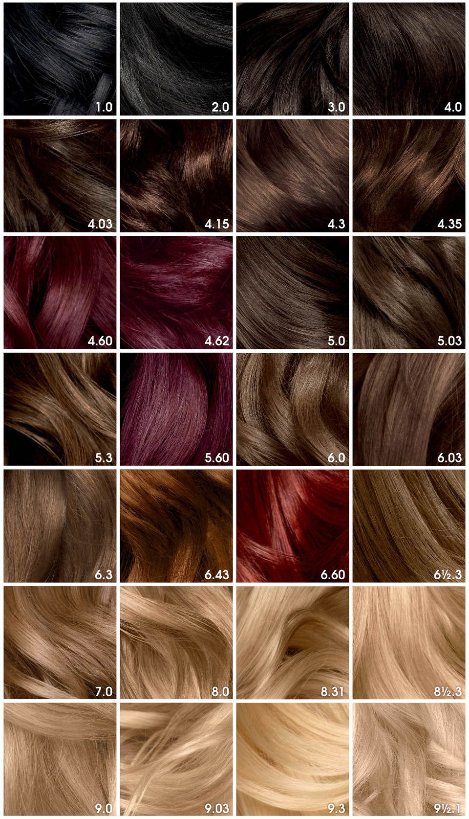 Olia 9 1 2 1 Lightest Cool Blonde 1 Application Olia Hair Color Hair Color Chart Hair Color Shades