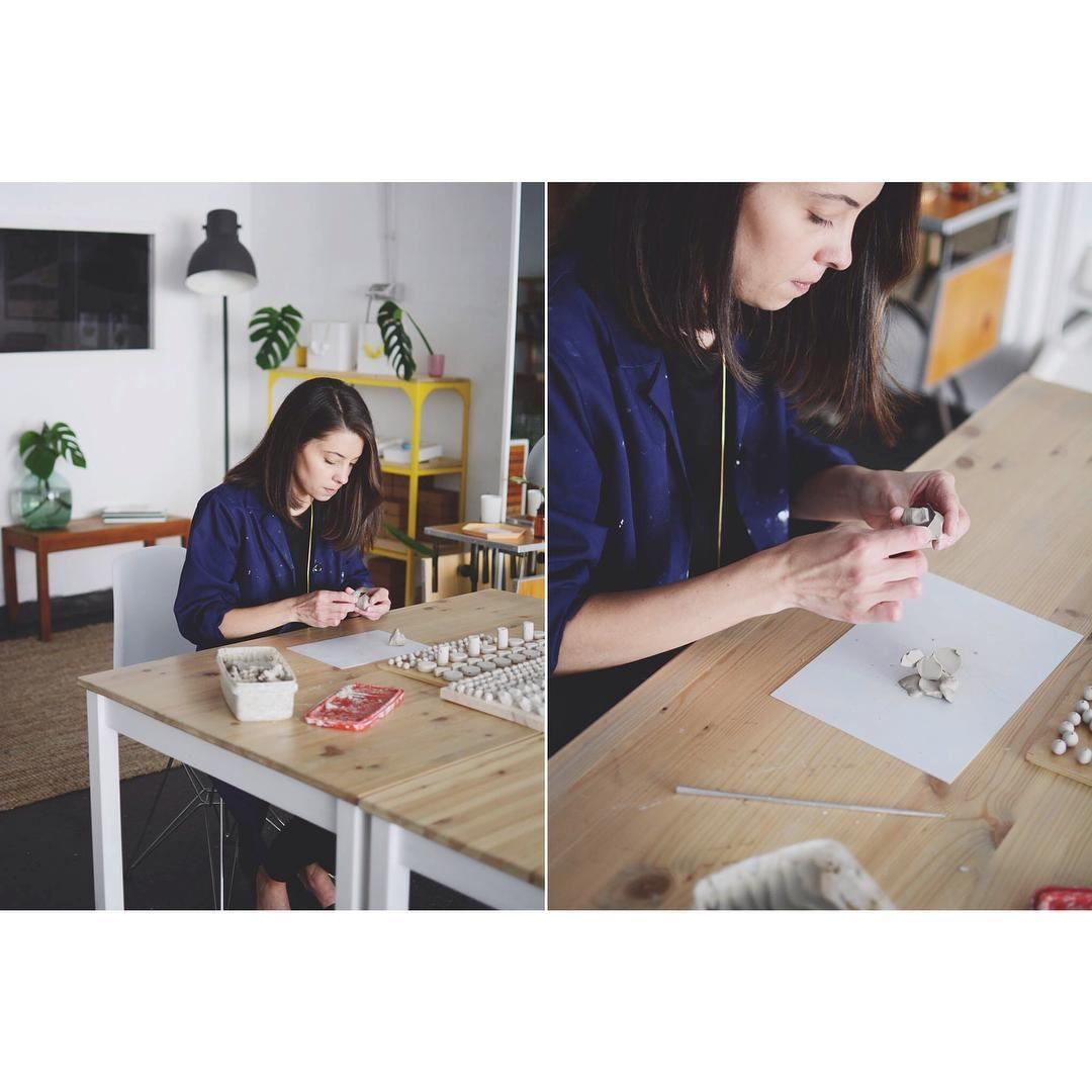 Working  foto @sierramenendez #working #newcollection #handmade #ceramic #slowfashion #pedruscojewelry #jewelry