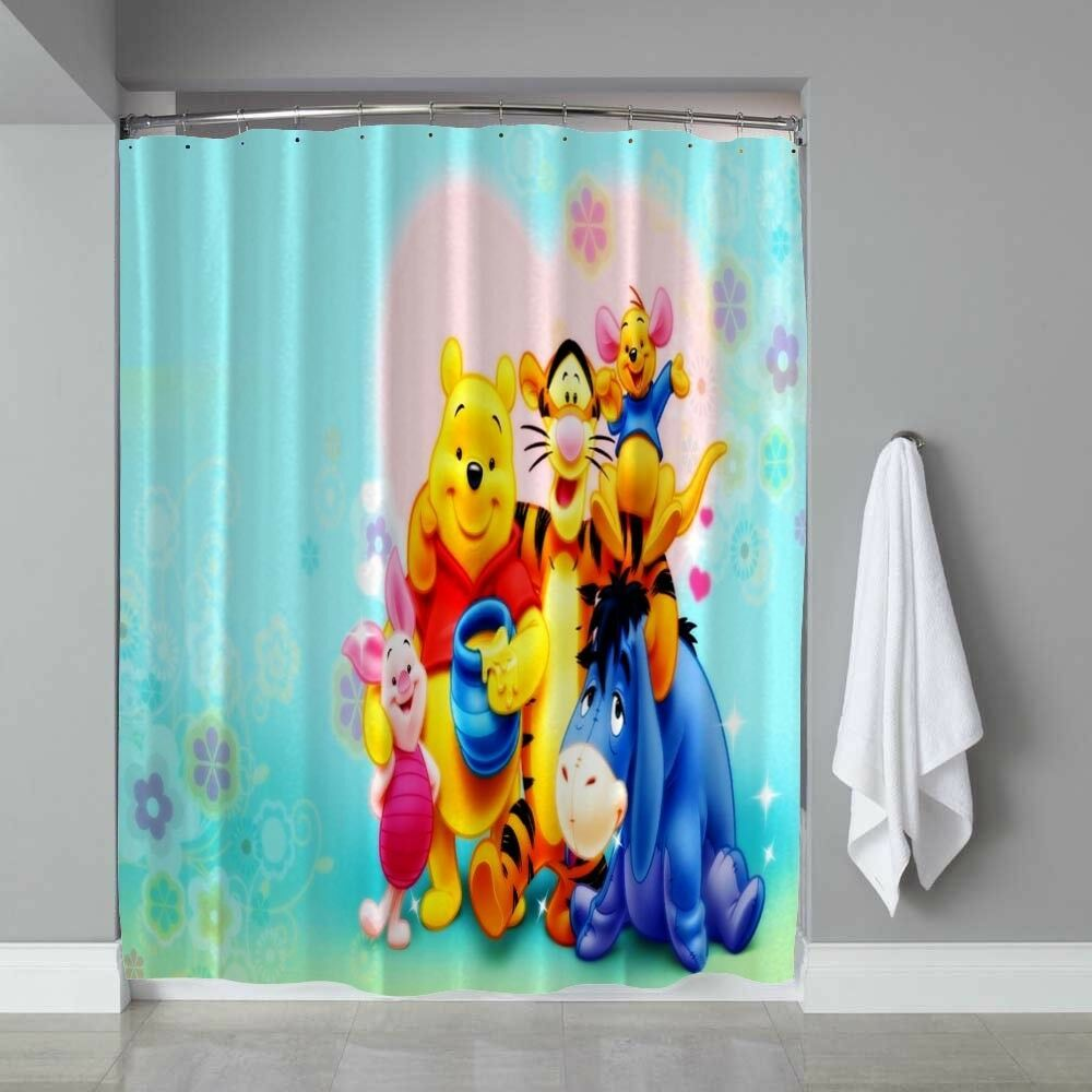 Disney Winnie The Pooh And Friend Waterproof Shower Curtain Limited Edition Winter201 Disney Winnie The Pooh Winnie The Pooh Winnie The Pooh Dancing
