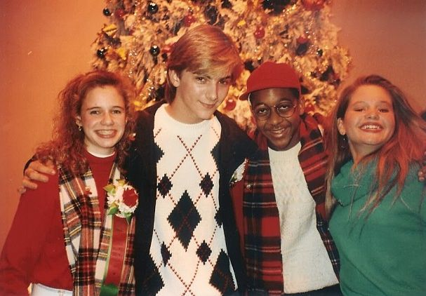 Christmas 1991 Kimmy Jeremy Miller Aka The Kid From Growing