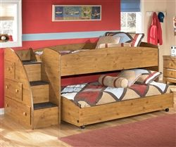 Wonderful Stages Loft Bed By Ashley Furniture Loft Bed With Stairs And Lower Bed.  This Is