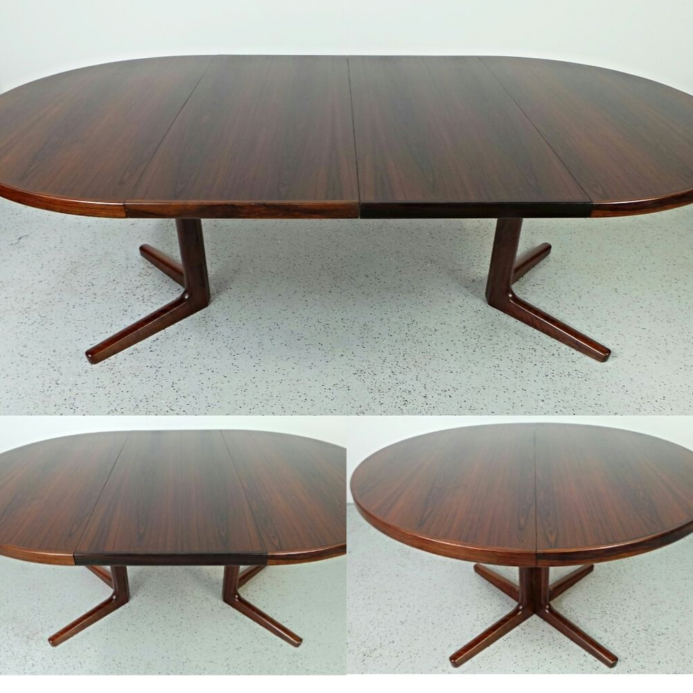 Mid Century Danish Modern Neils O. Moller Brazilian Rosewood Round Dining  Table #DanishModern #NeilsoMoller