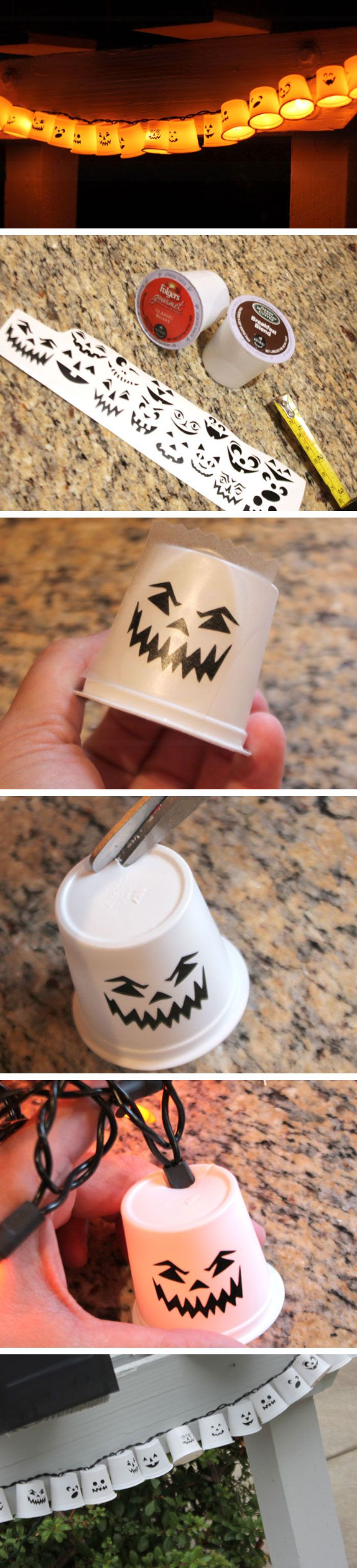 K-Cup Recycled Garland Click Pic for 20 DIY Halloween Decorations - Do It Yourself Halloween Decorations