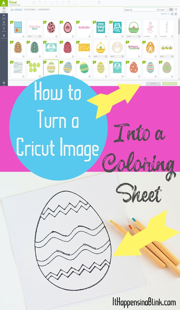 How To Use A Cricut Image To Make A Coloring Page Cricut Tutorials Cricut Projects Beginner Cricut Projects Vinyl