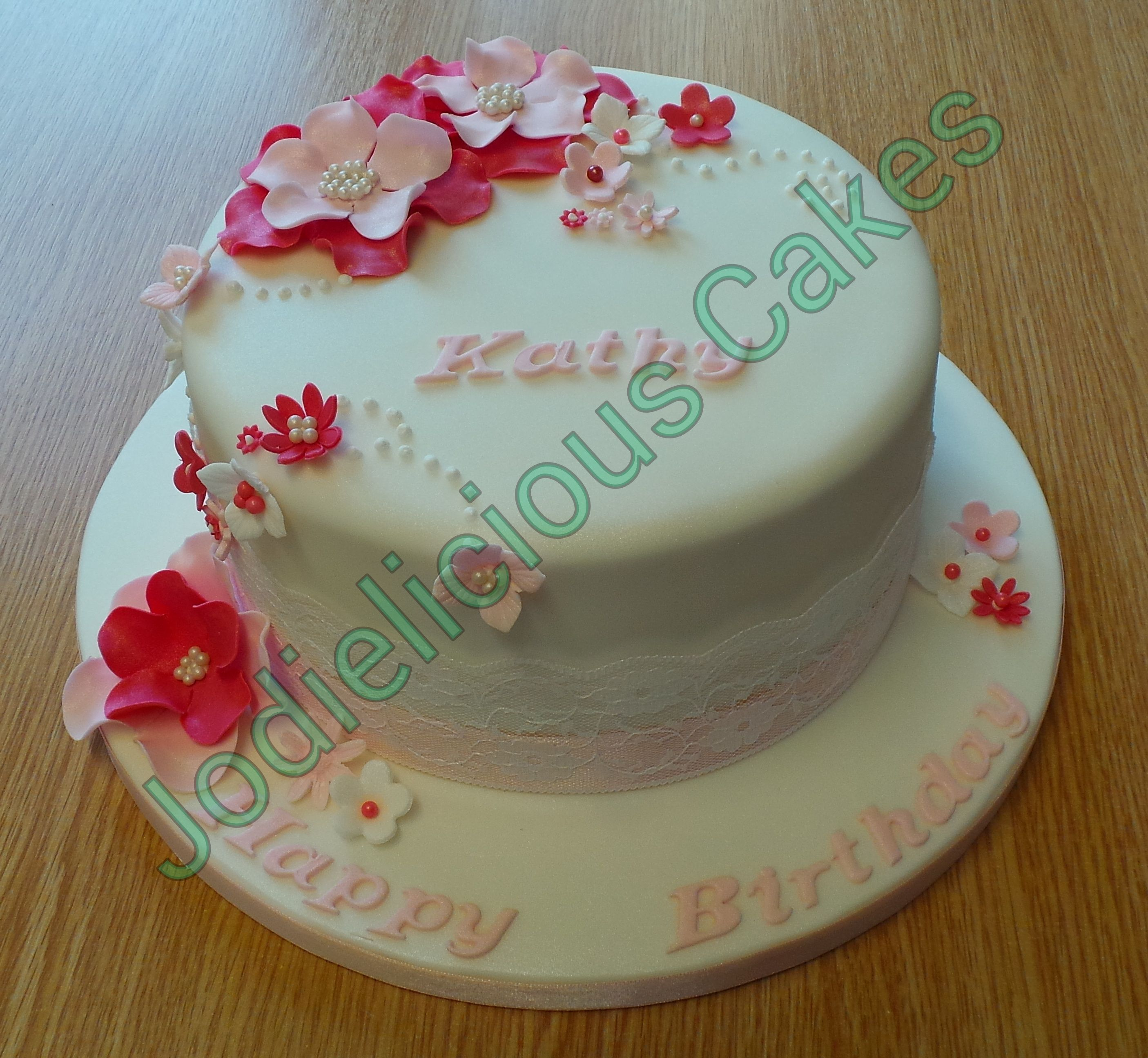 Pretty Pink 65th Birthday Cake Cakes Pinterest 65th Birthday