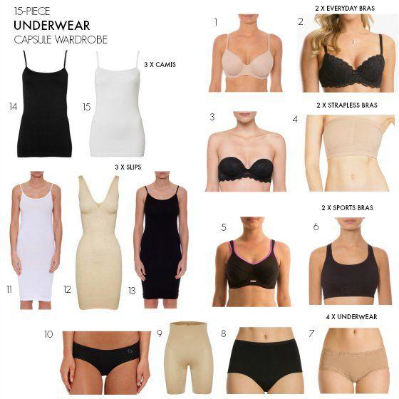 rapide armoire de capsule underwear essentials capsule wardrobe 15 pieces for every outfit garde robe capsule sous vetement