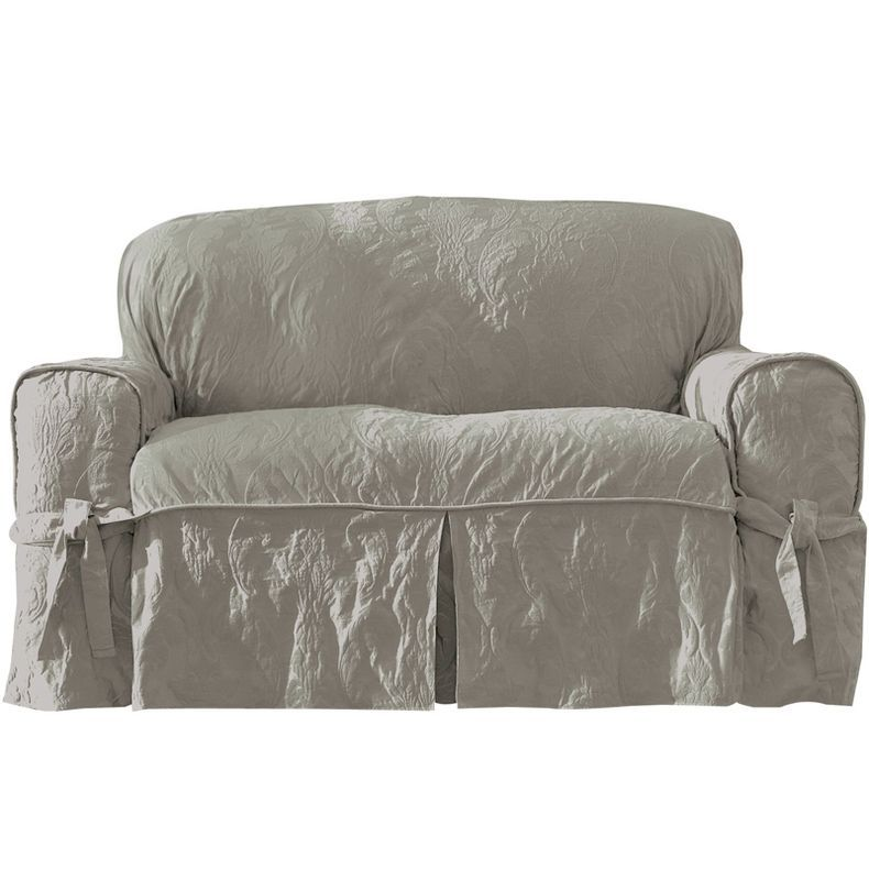 Swell Jcpenney Surefit Matelasse Damask 1 Pc Loveseat Creativecarmelina Interior Chair Design Creativecarmelinacom