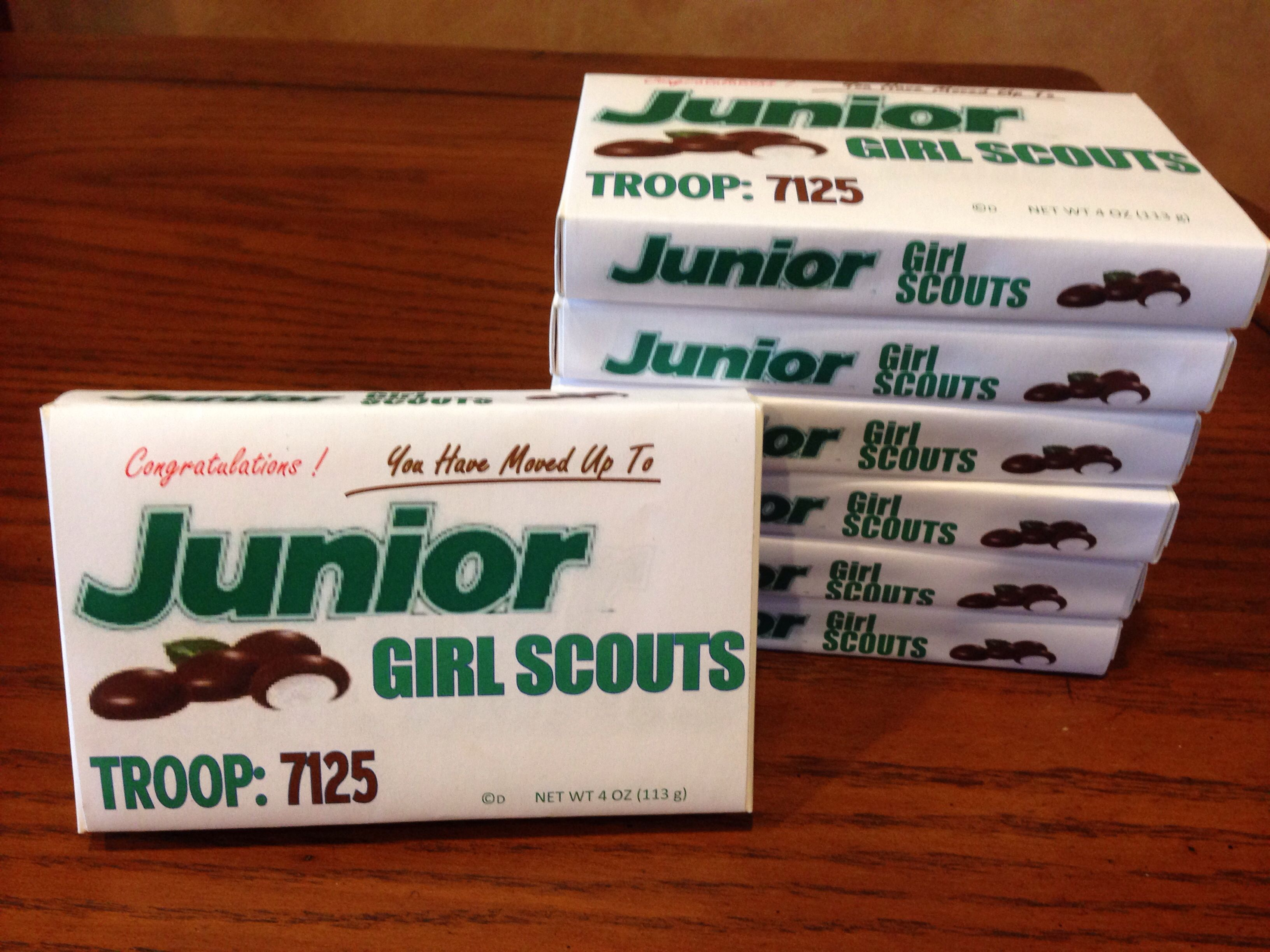Girl Scout Junior Mints label idea I saw this idea but couldn t