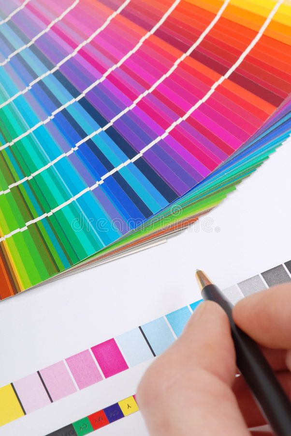 Color samples. Characteristic image for the pre-press and printing industry. Wit ,