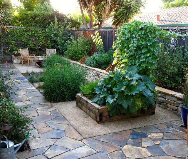 kleine gärten gestaltungstipps hochbeet steinboden | garden, Garten und Bauten