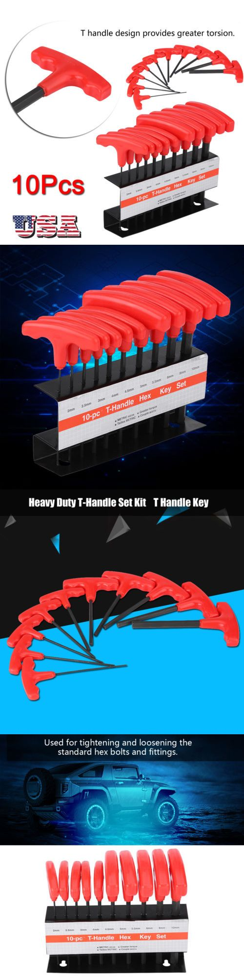 Hex Keys And Wrenches 42258 10 Pc T Handle Type Hex Key Wrench Set Metric Sizes Allen Wrench Mm Set Buy It Now Only 11 89 On Ebay Hex Key Wrench Set Hex