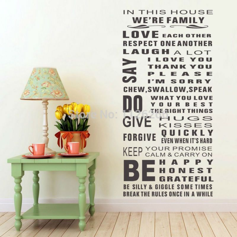 We Are Family Home Decor Quote Wall Decal Decorative Wall Decor