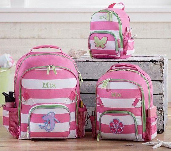 Fairfax Pink Stripe Backpacks Pottery Barn Kids
