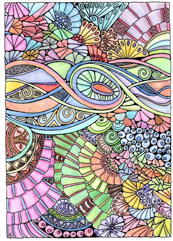 Creative Haven Entangled Coloring Book Crayola Colored