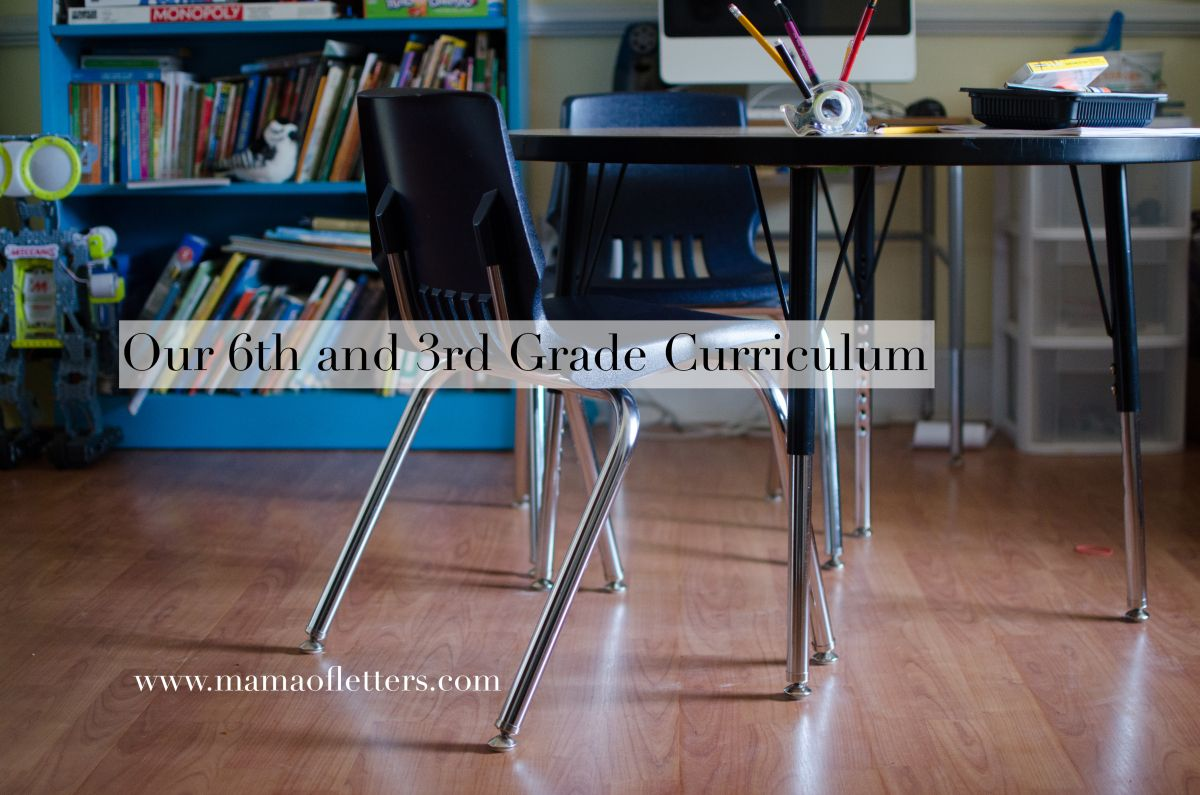 Our 6th And 3rd Grade Homeschool Curriculum