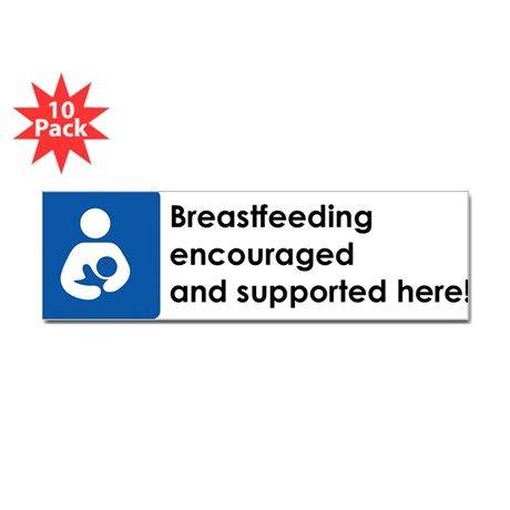 Breast feeding bumper sticker