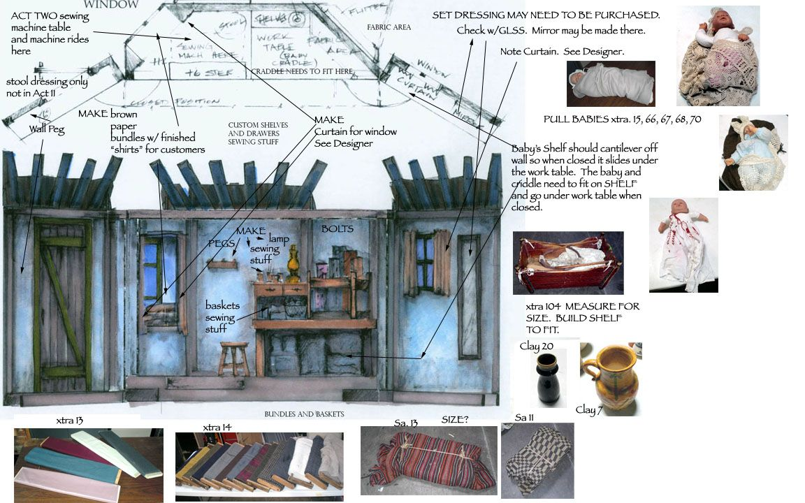 Props Tailor Set Design Theatre Fiddler On The Roof Fiddler