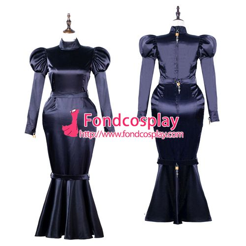 067e51485f18 Sissy maid satin dress lockable Uniform cosplay costume Tailor-made G2249