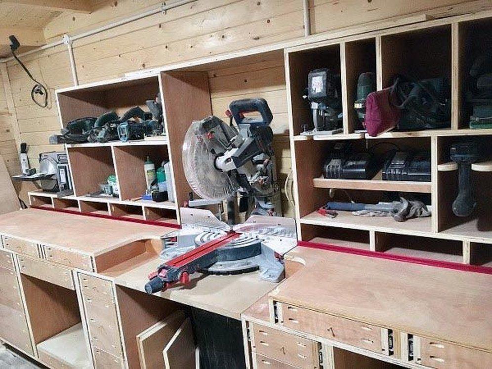 Photo of Workshop Storage Ideas Workbenches 31