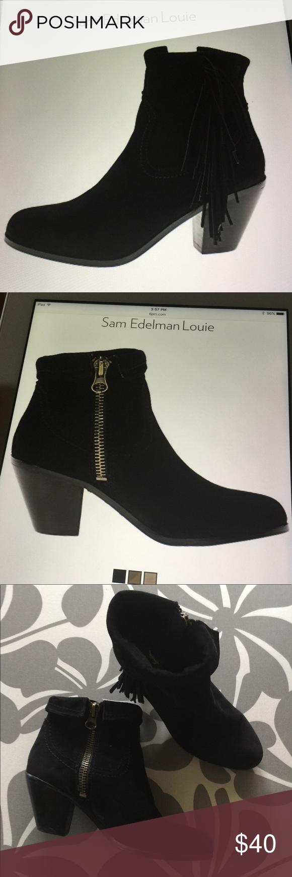 1e6dbbb95 Sam Edelman Louie fringed bootie