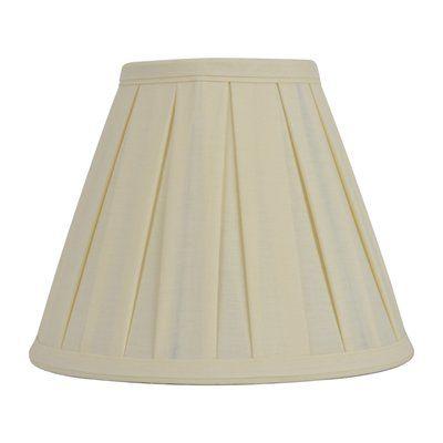 allen   roth 8-in x 10-in Cream Fabric Cone Lamp Shade