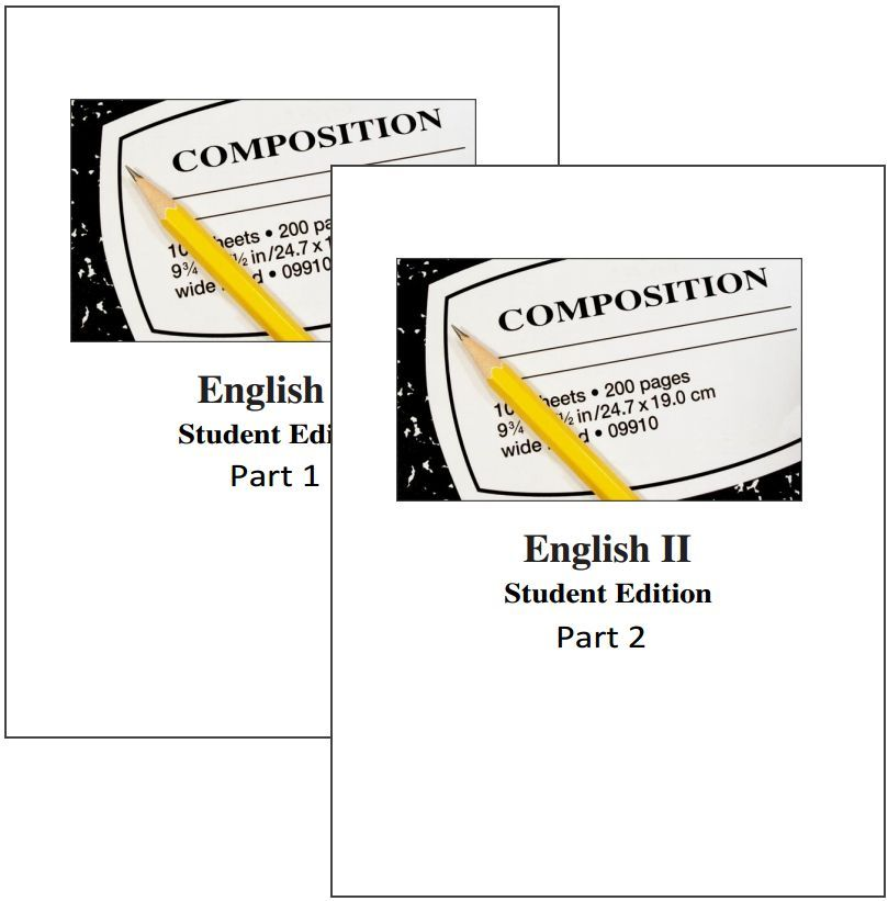 CHSH Just Added English 1 2 Student Editions AND Teachers Guides With Answer Keys
