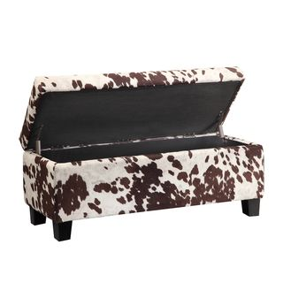 Online Shopping Bedding Furniture Electronics Jewelry Clothing More Cowhide Fabric Storage Bench Cowhide Print